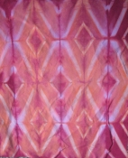 Shibori Diamonds-Pink and Orange