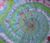 Tie Dye with Green, Blue and Red