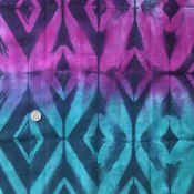 Black Raspberry Diamond Shibori FQ